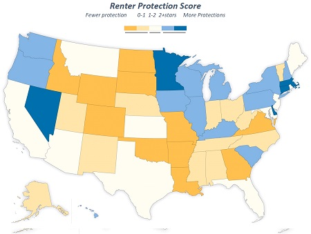 USA: Which States Protect from Eviction?