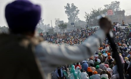 India: Farmers March against Agriculture Laws